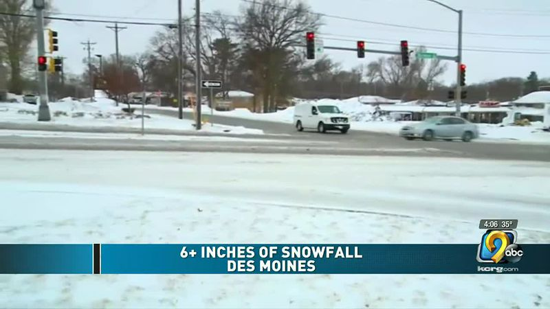 Central Iowa gets over six inches of snowfall in last 24 hours