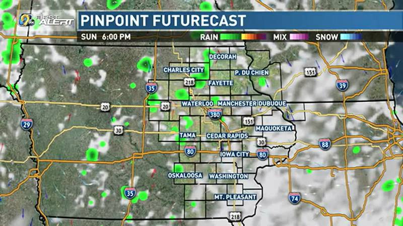 Yet another round of scattered showers and thunderstorms is expected across eastern Iowa this...