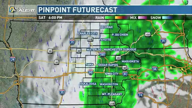 Look for showers still possible early Sunday, slowly coming to an end from west to east through...