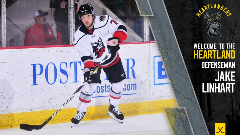 Jake Linhart is the first player to sign with the ECHL's Iowa Heartlanders.