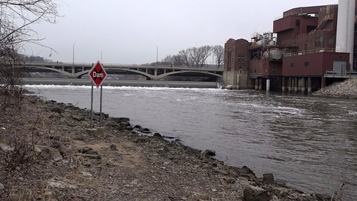 The Iowa River in Iowa City on Wednesday, March 11, 2020. The Iowa Flood Center is located...
