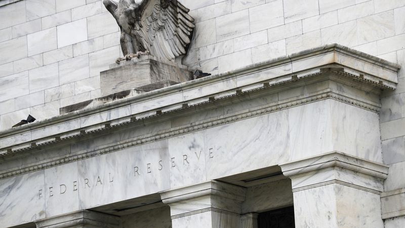 This May 22, 2020, file photo shows the Federal Reserve building in Washington. A Federal...