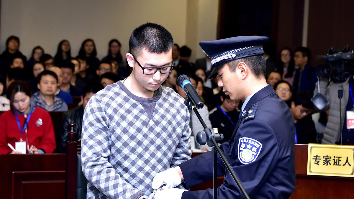 Xiangnan Li appeared in court in China March 23, 2016 and admitted to strangling Tong Shao, his...