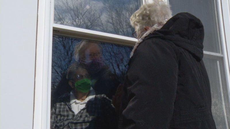 Karen Osar visits her husband Richard at Mill Valley Care Center in Bellevue.