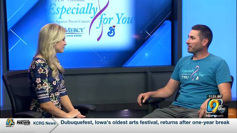 Jeff Decker, the race director for the Especially for You Race Against Breast Cancer, talks to...