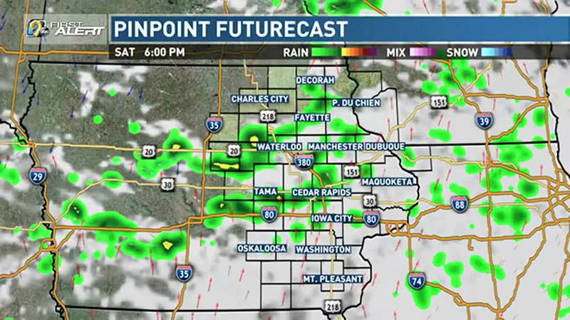 Rain chances dwindle through the evening and overnight, but an isolated shower or rumble of...