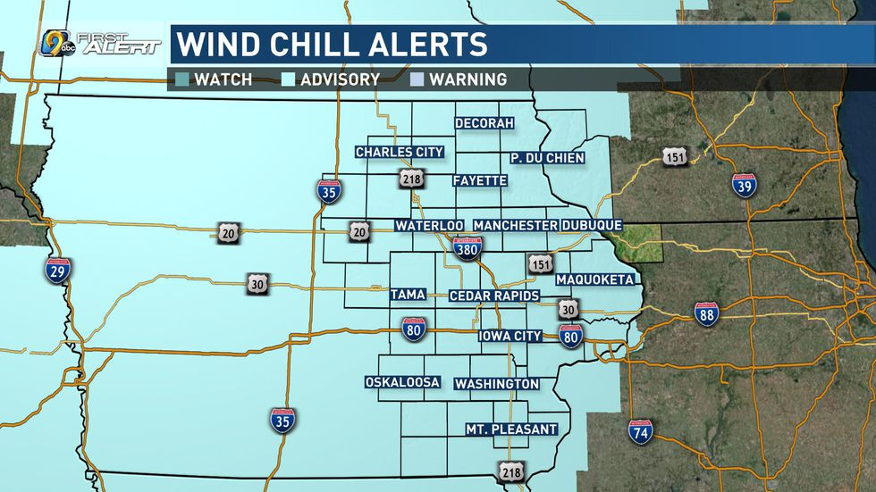 Grab the layers out the door this morning, winds chills be will be near -30°.