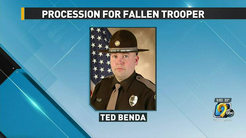 The Iowa State Patrol says it will escort a fallen trooper back home.
