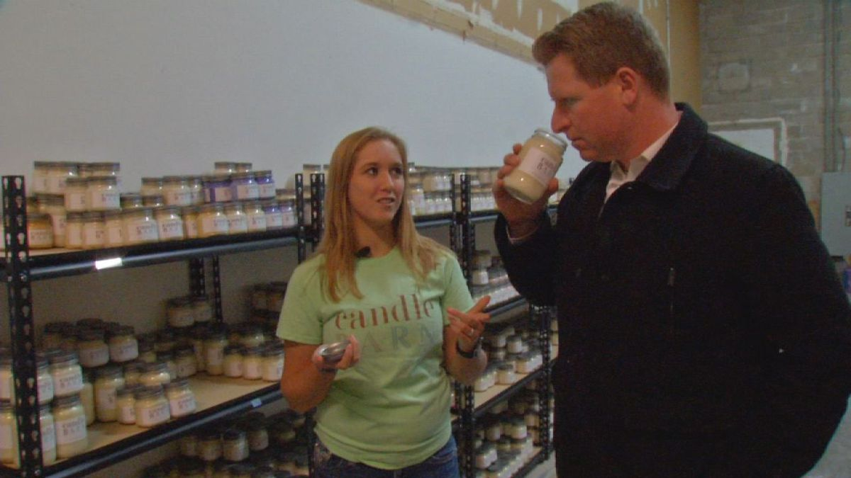 Emily Pearson, owner of Candle Barn Candles in Marion, bought the business in 2014, when she was only 16 and still a student at Marion High School.