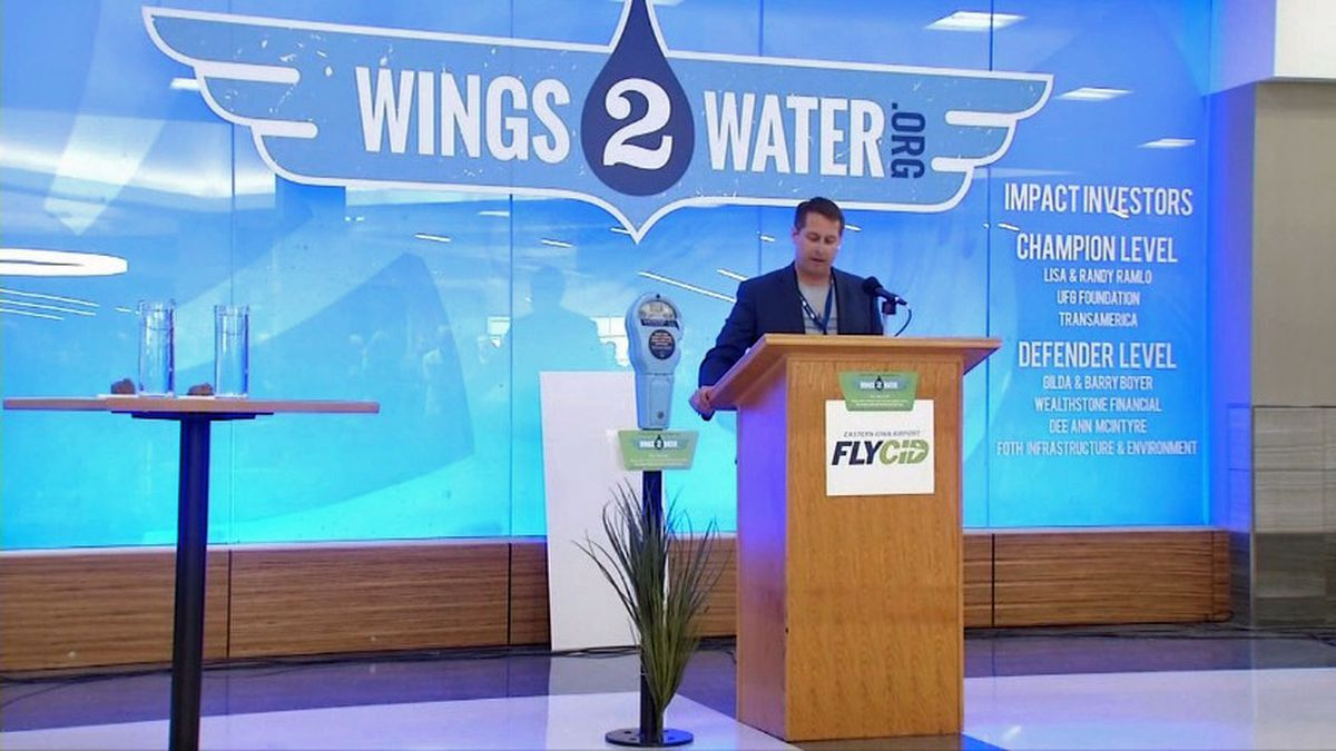 The Eastern Iowa Airport is leading an initiative called Wings 2 Water, with the goal of improving water quality locally and globally (Aaron Hosman/KCRG)