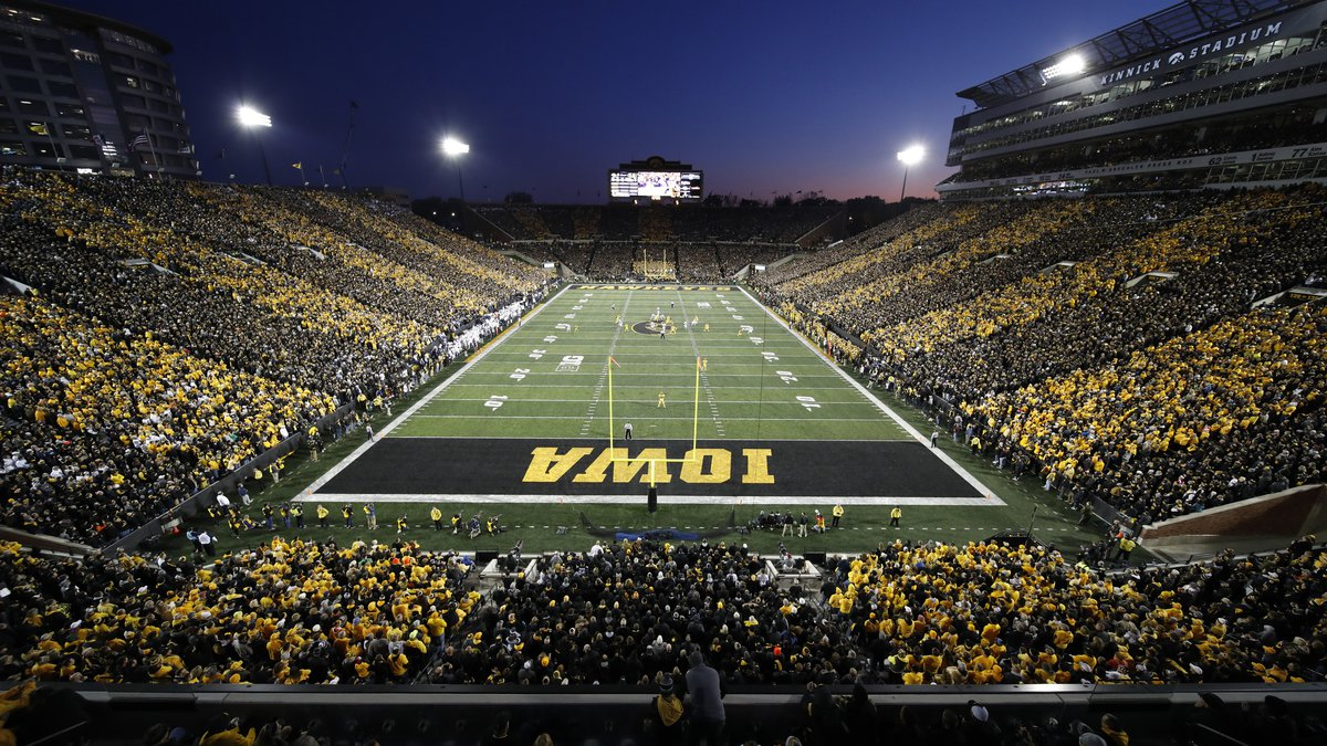 Iowa plays Penn State during the first half of an NCAA college football game at Kinnick...