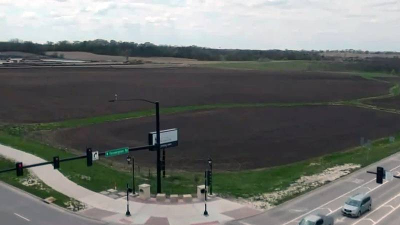 The location of a proposed University of Iowa Healthcare facility in North Liberty.