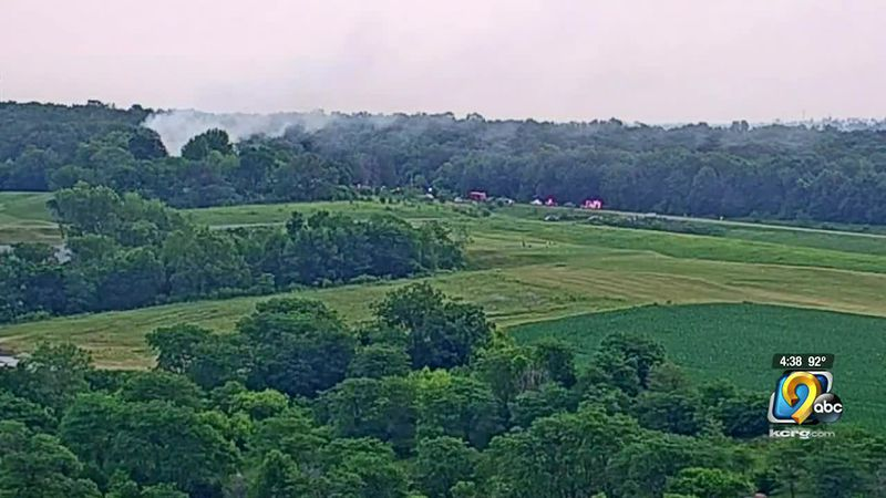 Firefighters respond to fire near Amana Colonies Golf Club