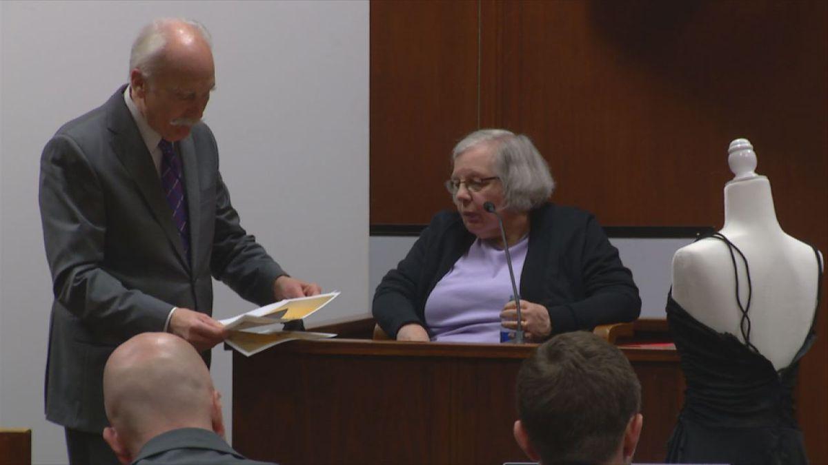 Leon Spies (left) questions former Iowa Division of Criminal Investigations staffer Linda Sawer...