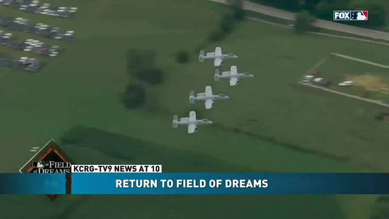 Pilots who took part in the MLB fly over at the Field of Dreams were either Iowa natives or had...