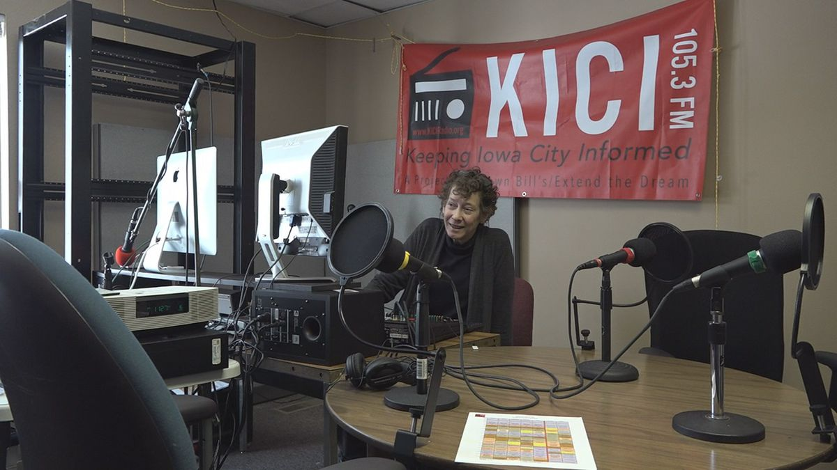 KICI 105.3, a non-profit, commercial-free, and all volunteer-based radio station in Iowa City started up in Summer 2018. (Aaron Scheinblum, KCRG)