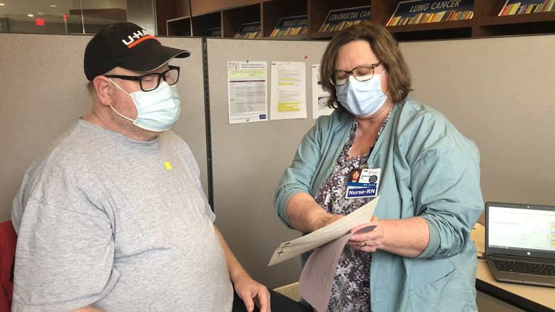 Mercy Medical Center in Cedar Rapids hosted a COVID vaccine clinic for individuals experiencing...