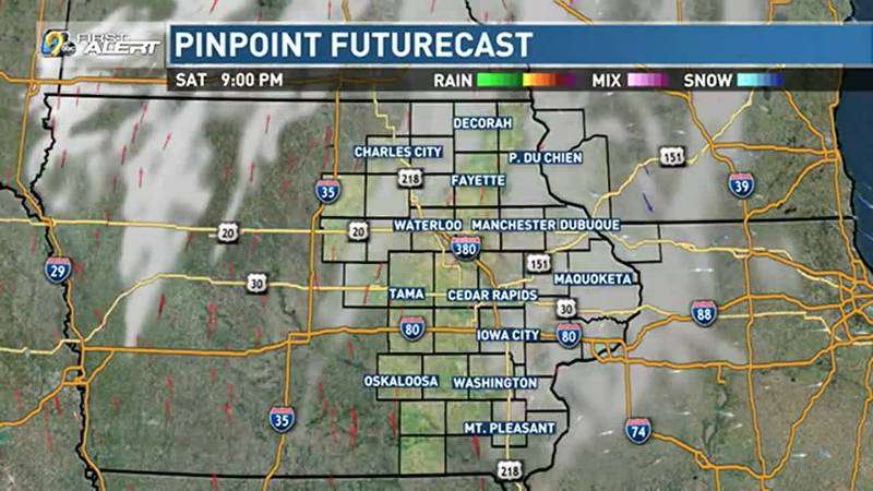 A few clouds, at worst, for Saturday night.