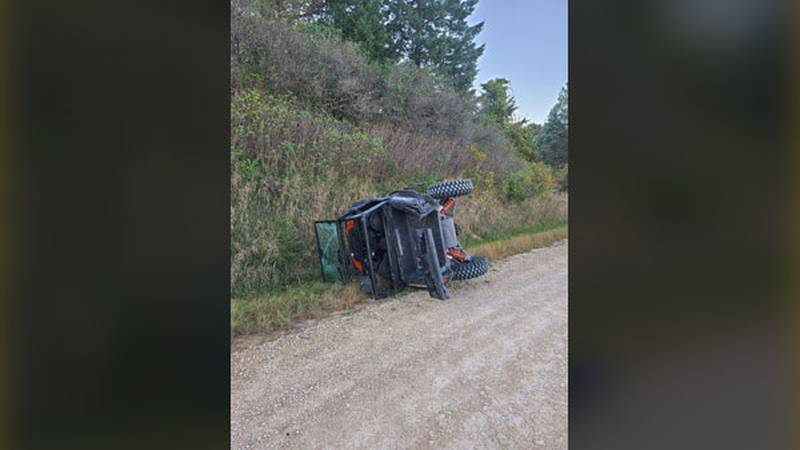 One person died in a UTV crash in northern Linn County on Sunday.