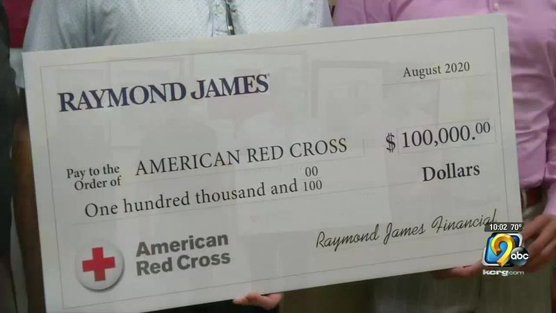 $100,000 donated to Red Cross Disaster Relief fund