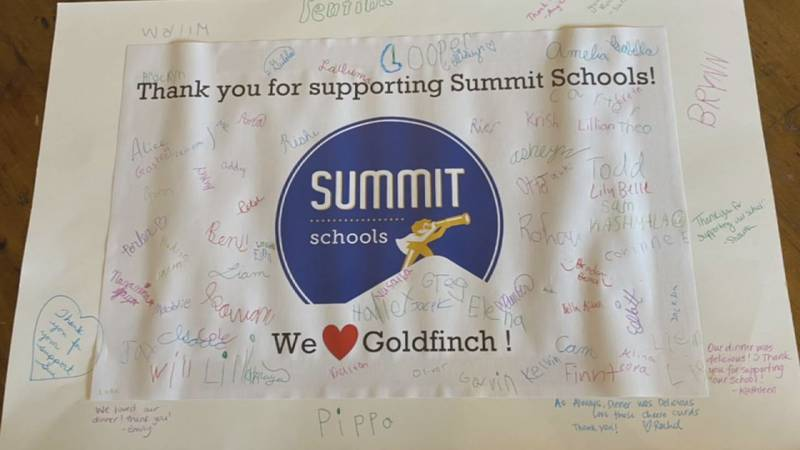 Goldfinch Tap and Eatery in Marion is giving back to schools and students despite taking a hit...