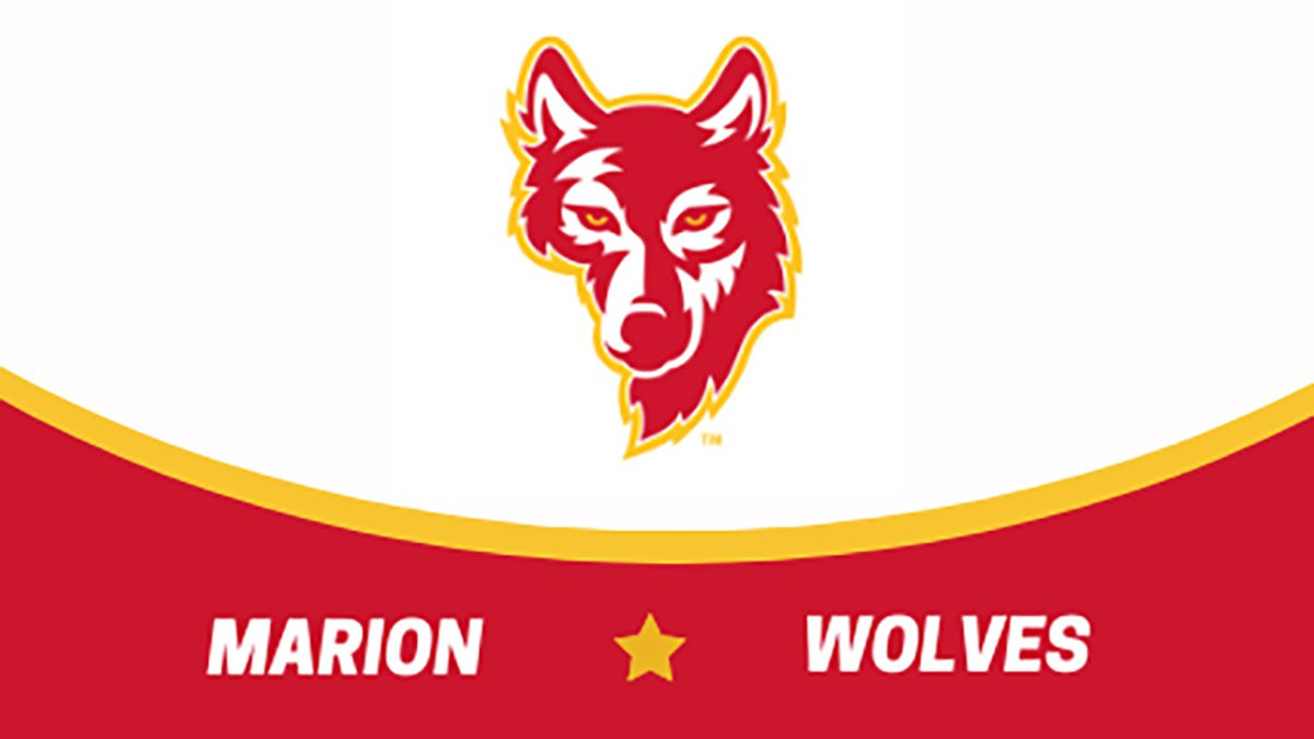 The logo for the Marion Wolves, which represents the Marion Independent School District's...