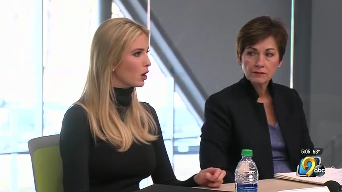 Ivanka Trump and Iowa Governor Kim Reynolds headed to Waukee Monday morning to tour the Waukee Innovation and Learning Center on Monday, March 19, 2018. (KCCI)