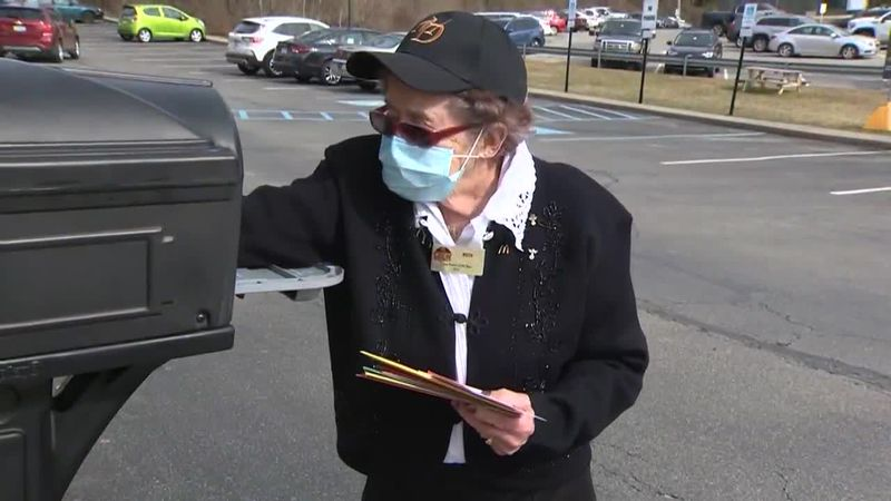 The nearly 100-year-old worker is so popular that the flood of birthday cards she has been...