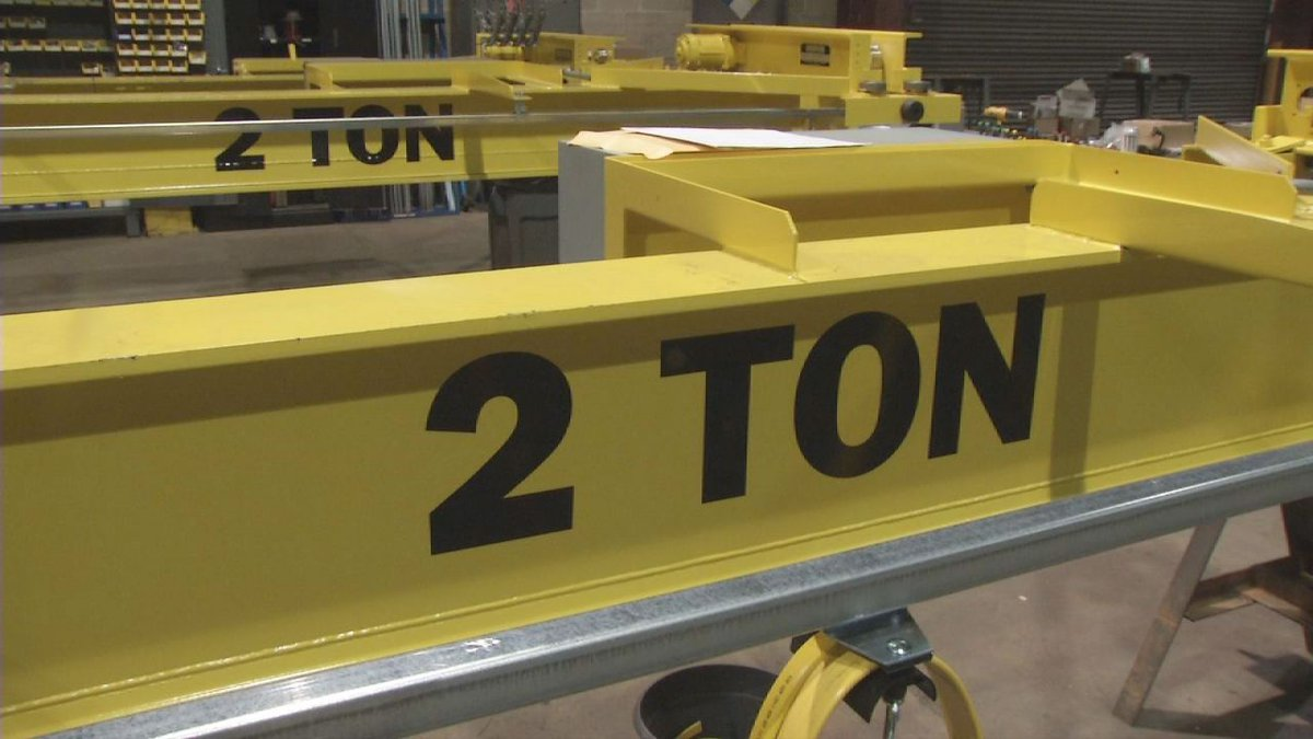 AFE Crane, in Cedar Falls, makes custom cranes to lift just about anything for a construction...