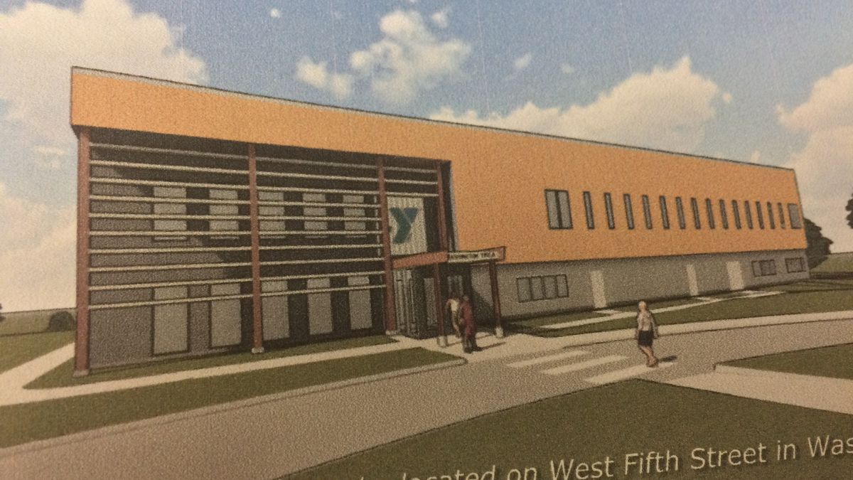 An artist's illustration of the revised Washington YMCA expansion plan.  Voters turned down a...