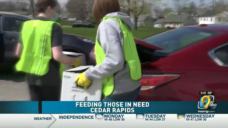 Feeding those in need in Cedar Rapids