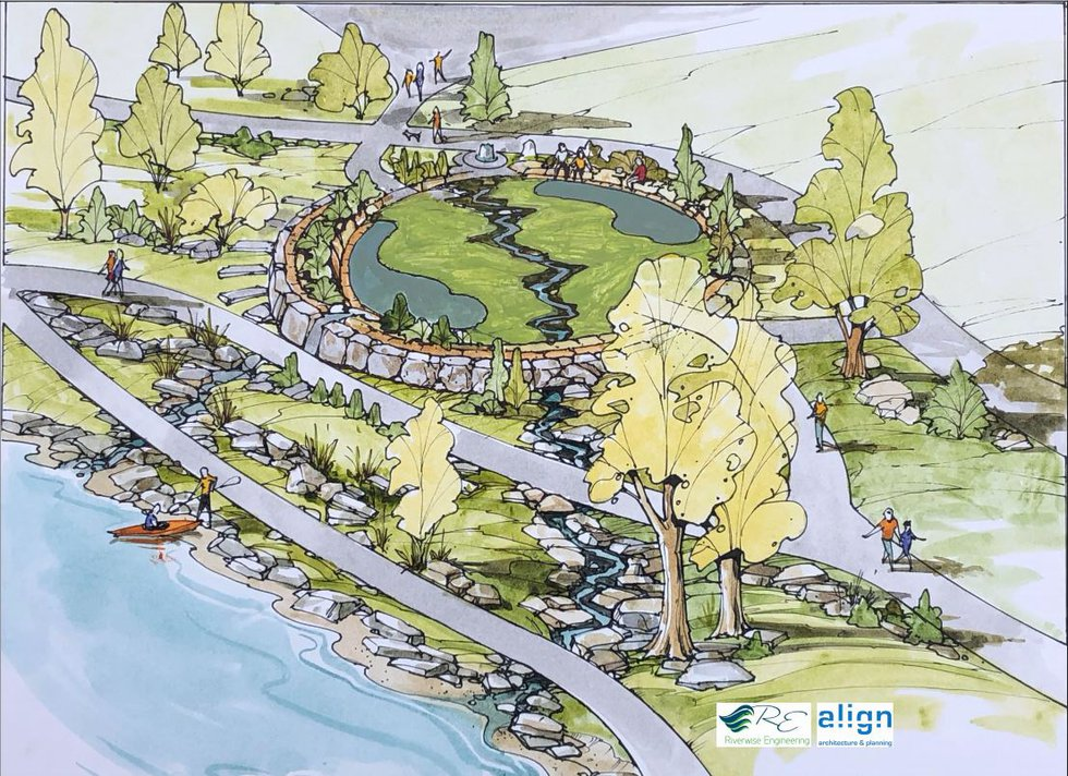 A rendering of the Cedar River Recreation project.