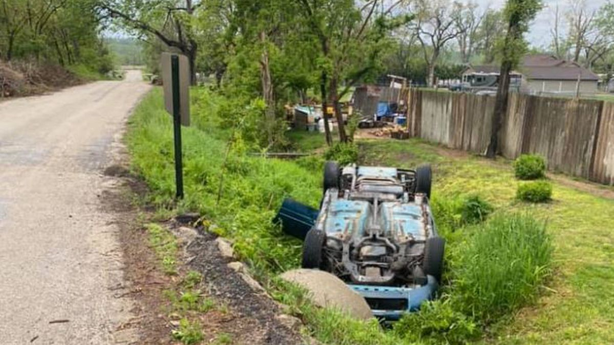 Cedar Rapids Police say a woman fell asleep while driving, rolled her car and ended up in a...