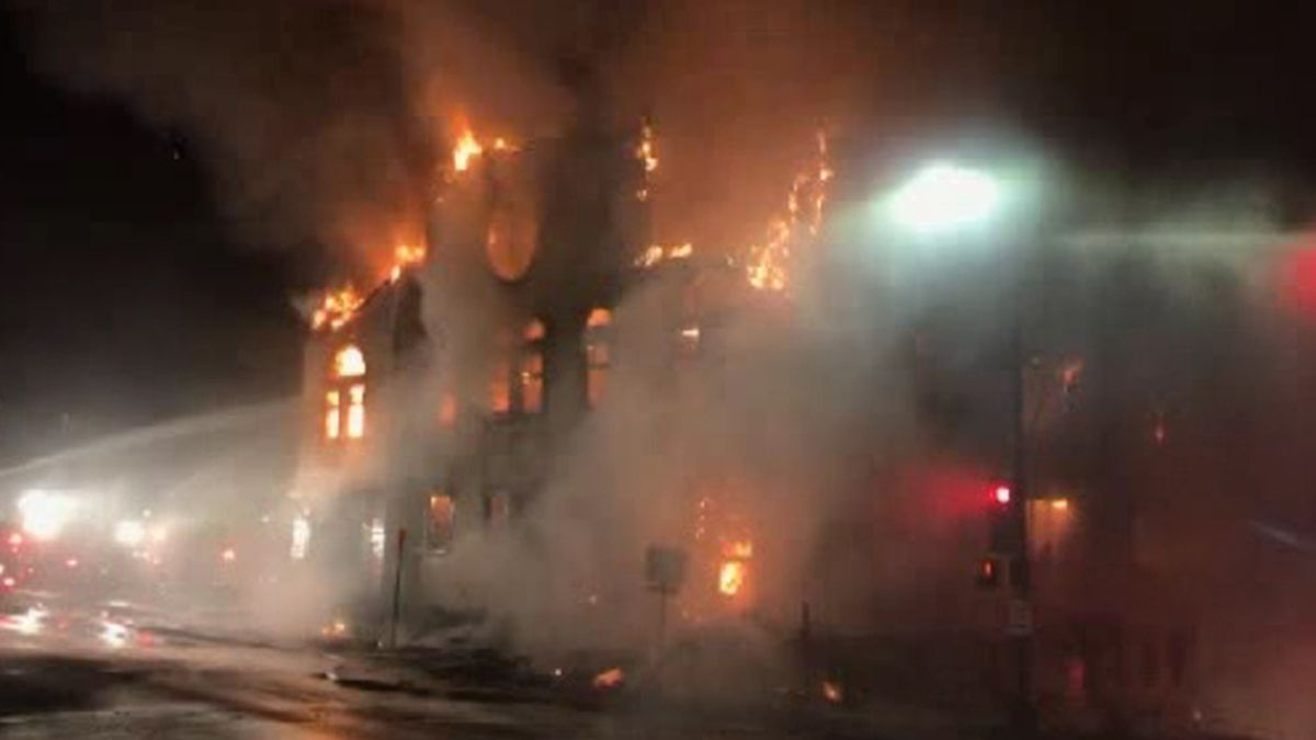 Wisconsin officials say a fire has gutted a historic synagogue in downtown Duluth. (CNN)