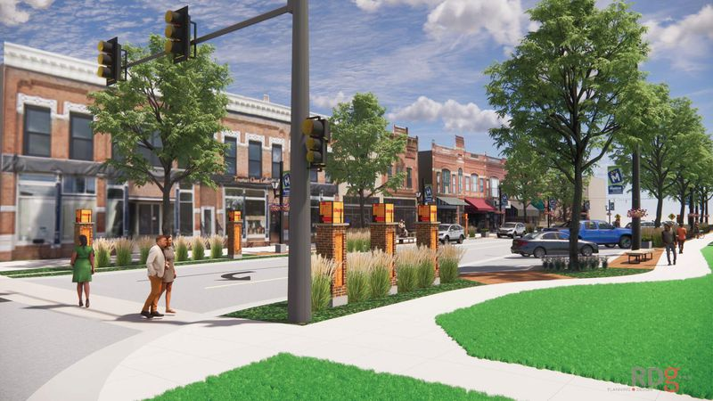 A rendering of the 7th Avenue streetscape  project in Marion