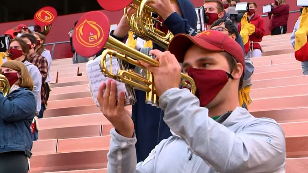 The Iowa State Cyclone Marching Band is making adjustments during the COVID-19 pandemic.