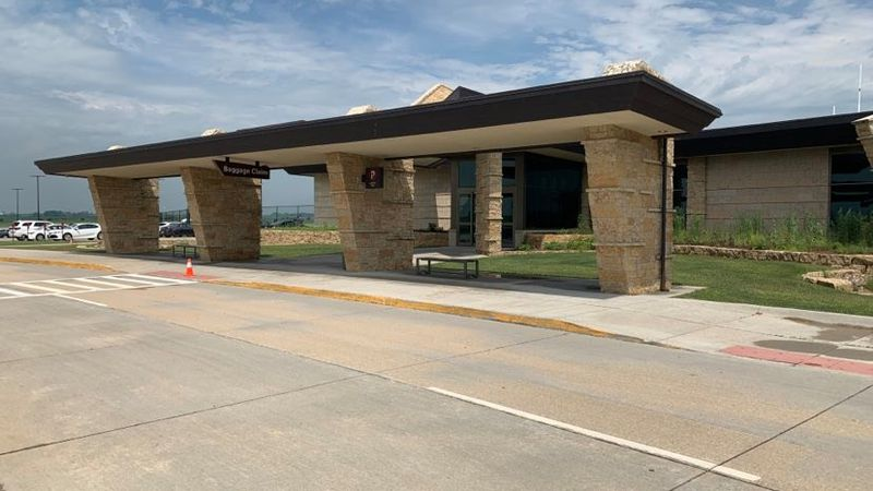 The entrance to baggage claim at the Dubuque Regional Airport on Wednesday, Oct. 7, 2020.