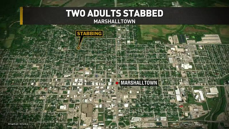 Police in Marshalltown are investigating after finding two people with stab wounds in a front...