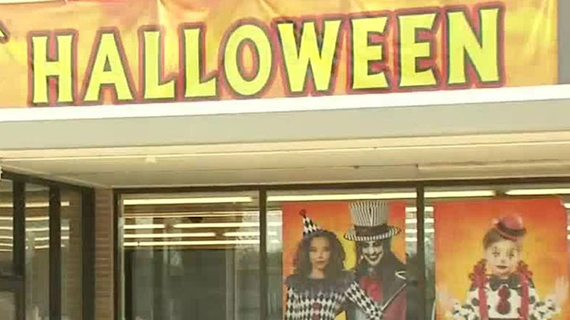 The outside of a Spirit Halloween store in Dubuque on Wednesday, Oct. 28, 2020.