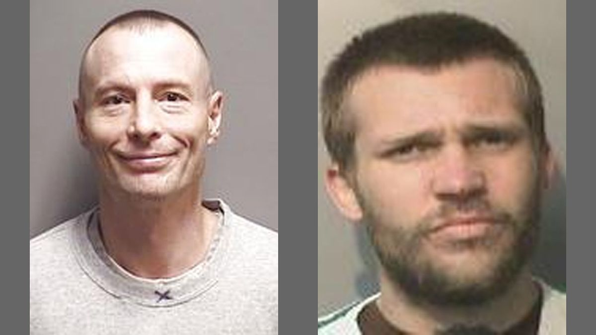 Police said Yancy Freland (left) and Bryan Norris are charged with first-degree murder after a man's body was found in a homeless camp near downtown Des Moines. (Courtesy images)