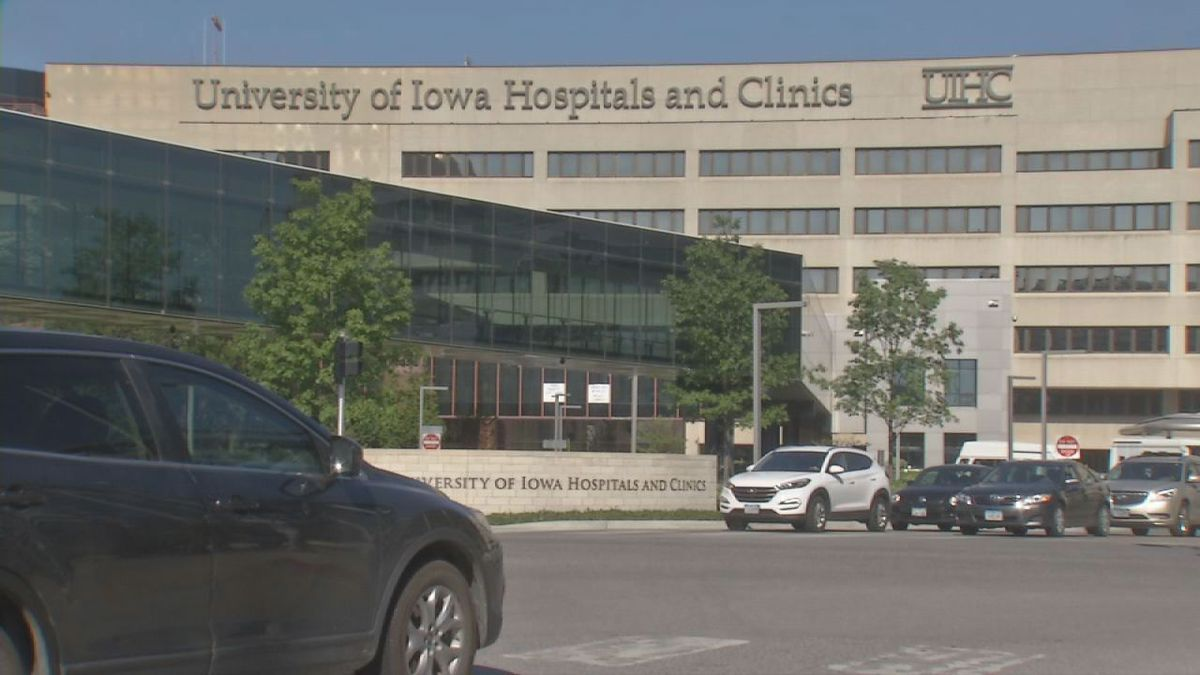 The University of Iowa Hospitals and Clinics in a 2017 photo. (Samantha Myers/KCRG)