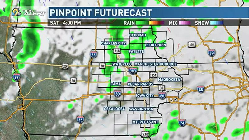 Scattered showers remain possible.