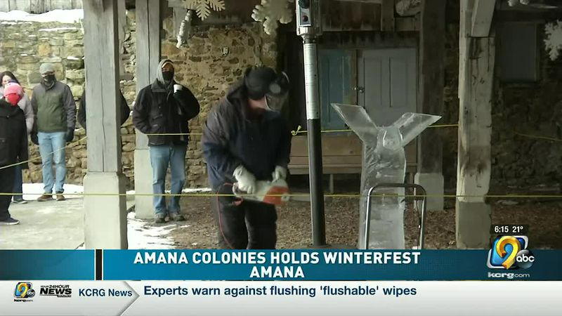 Dozens brave the cold for Amana Colonies Winterfest