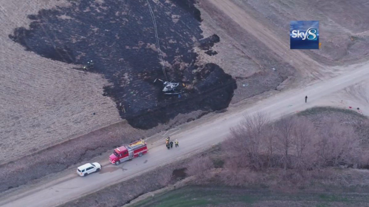 Two people are dead after a helicopter crashed in Audobon County. (KCCI)