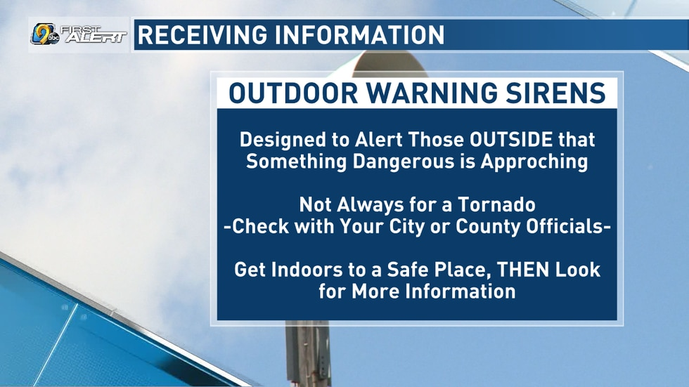 Outdoor Warning Sirens are meant to alert those who are outside.