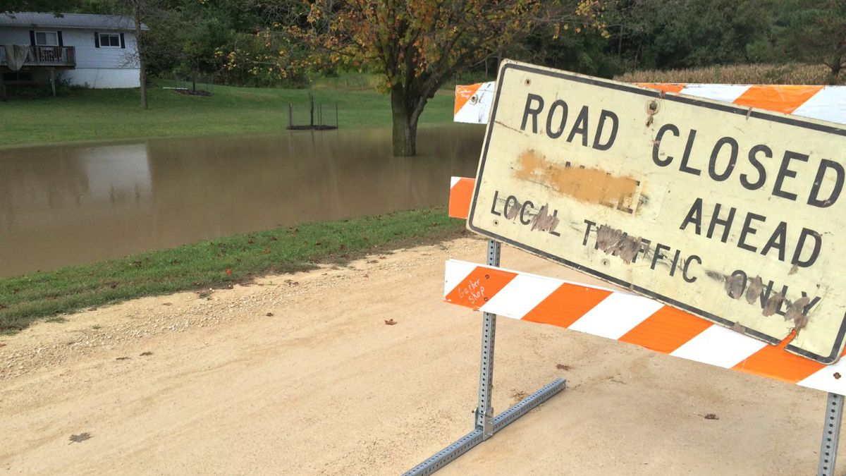 The Turkey River in parts of Clayton County rose 12 feet overnight due to flash flooding and heavy rain.  But a lower projected crest should prevent in damage in small towns along the river like Garber.