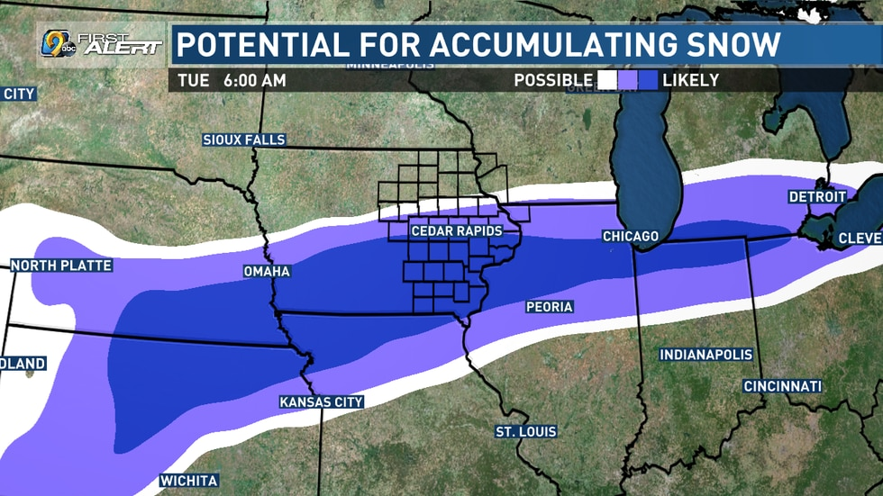 Another system pushes through Sunday night and into Monday that brings another potential for...