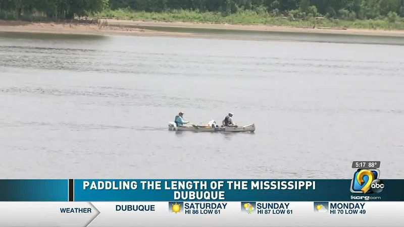Man paddling down the Mississippi River to raise money and awareness