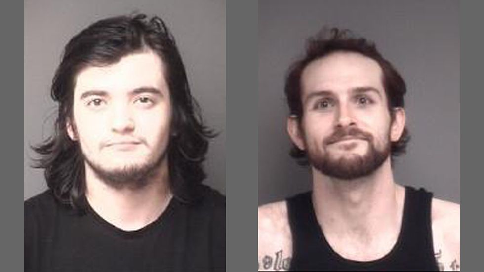 Chandler Austin Bourgeous (left), 21, of Apple River, IL, Royal William Kody Broman (right),...