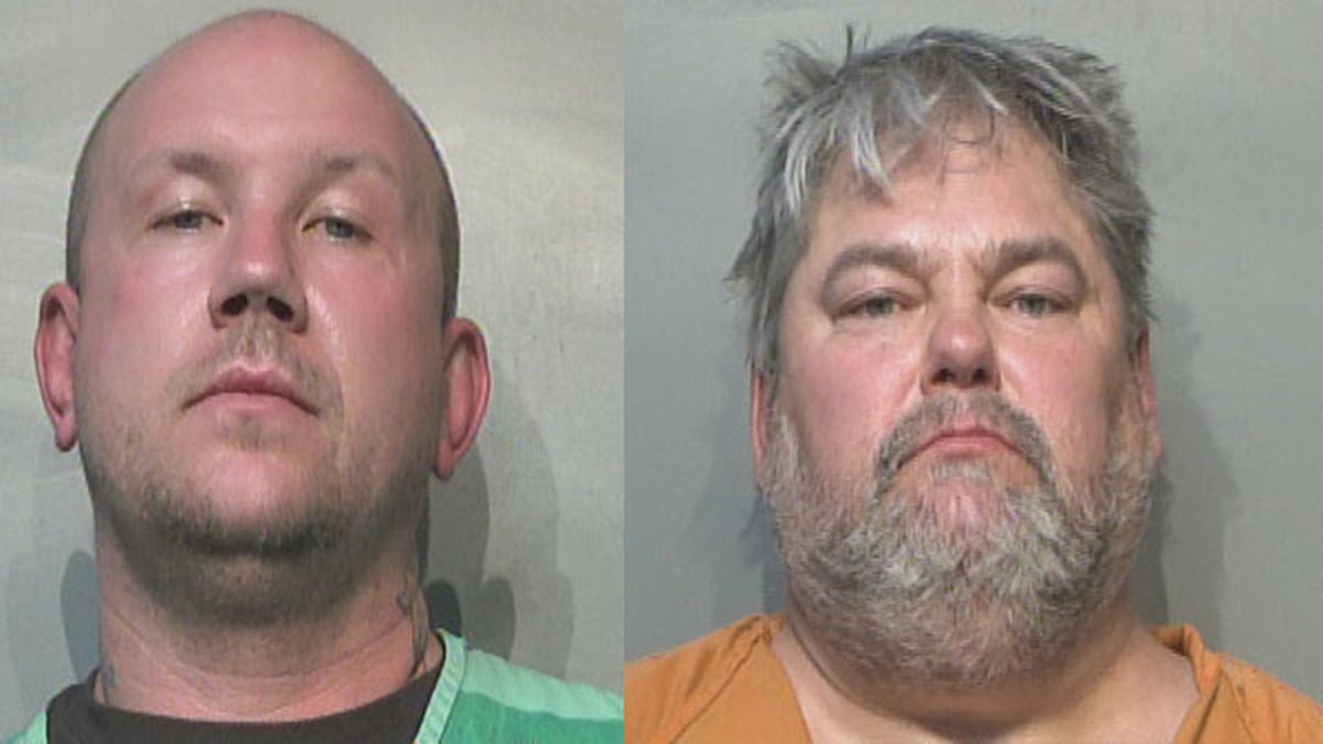 Joesph Rossing (left) and Robert Shelton (right) face hate crime charges after assaulting a man...
